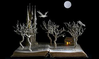 Su Blackwell's Wondrous Old Book 3-D Artwork