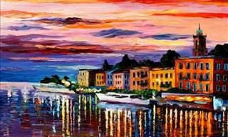 Leonid Afremov's Amazing Palette Knife Art