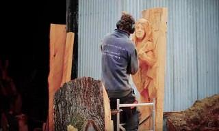 Simon O' Rourke Definitely Sets the Wood Carving Benchmark