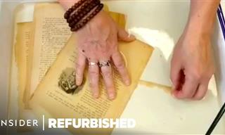 Watch How a 100-Year-Old Book Is Beautifully Restored