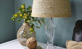 DIY: Give a Rustic Feel to Old Household Items with some Rope