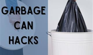 Drilling Holes In the Trashcan Can Make Your Life Much Easier!