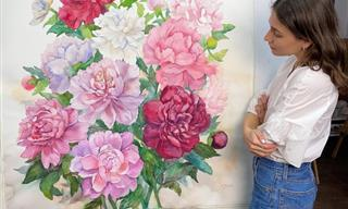 12 Massive Watercolor Paintings of Gorgeous Flowers