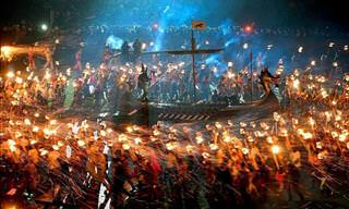 Vikings Turn up in Force for Epic Up Helly Aa Festival