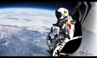 Inspiring: Man Breaks World Record for Space Jump