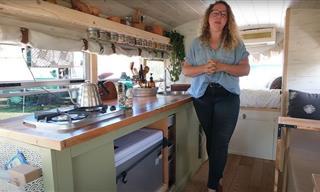 Stephanie Gray Renovated a School Bus into a Tiny Home