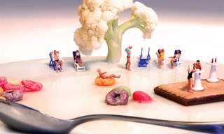 Tiny Worlds Made of Food - Lovely!