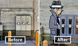 16 Clever and Funny Street Art Pieces by Tom Bob