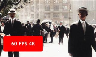 Take a 4K, Vivid Walk Through the Streets of 1911 New York