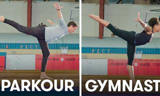 Can Parkour Practitioners Keep Up With Gymnasts?