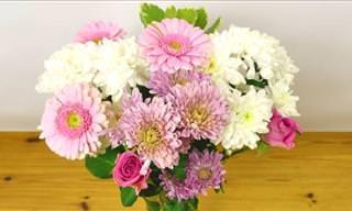 A Brilliant Tip for Improving Flower Arrangements