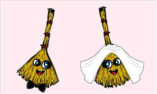 A Boy-Broom and a Girl-Broom Get Hitched