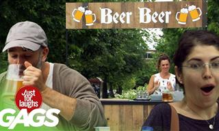 Is This Magic? Guy Moves a Glass of Beer Without Touching
