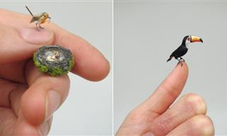 15 Lifelike Miniature Animals by Talented Hungarian Artist