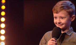 Comedic Kid Makes His Debut Performance on BGT