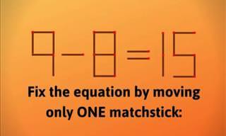 Challenge: 5 Matchstick Riddles