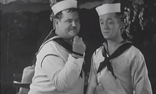 Classic Comedy: Laurel & Hardy Try to Impress Some Girls