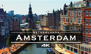 Fly Above the Major Landmarks of Amsterdam in 4K