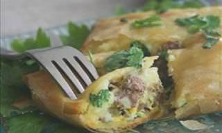 Potato and Meat Stuffed Brik Pastry