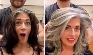 Talented Hair Stylist Inspires Women to Embrace Their Grey Hair
