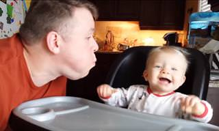 Hilarious: Never Leave a Baby Alone With Dada!