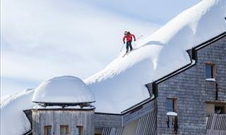 Rooftop Skiing Must Be the Most Awesome Thing Ever!