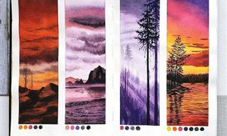 These Watercolor Studies Showcase the Serenity of Nature