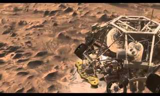 What does a Mars landing look like - Amazing video