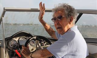 90-Year-Old Norma Hits The Open Road