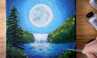 Have You Ever Wanted to Paint a Perfect Moonlit Landscape?