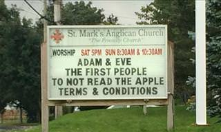 15 Hilarious Church Signs