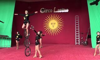 Five Latin Sister Acrobat Show