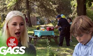 Gag Video: When a Cop Ruined a Poor Kid's Birthday Party