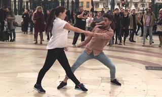 Professional Dancers and a Street Performer Join Forces!
