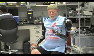 This Amputee Controls Two Bionic Arms With His Mind!