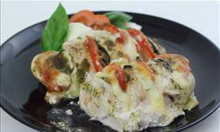 RECIPE: Mediterranean Stuffed Chicken Caprese