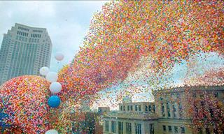 City Released 1,500,000 Balloons Creating a Catastrophe