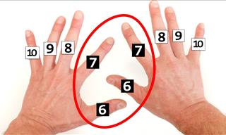 How to Do Multiplications With Your Hands!