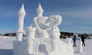 20+ Gorgeous Snow Sculptures to Get You Excited for Winter