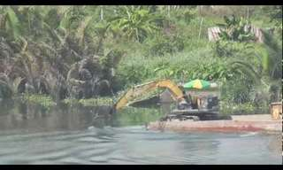 What Do an Excavator and Raft have in common?
