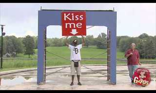 Funny Prank: A Sign It's Time For a Kiss!
