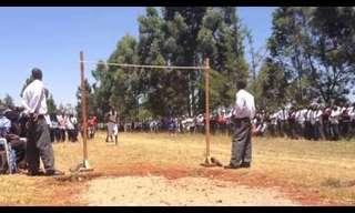 Kenyan High-School Jump - Amazing!