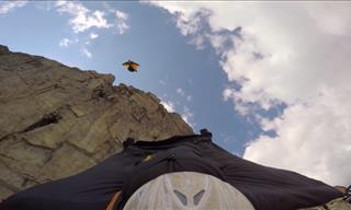 A Death Defying Wing Suit Flight