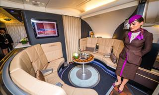 On Board the Luxurious Etihad A380 Airplane