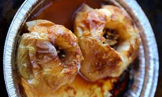 Baked Apples with Walnuts and Cider