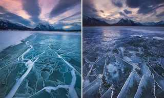 The Serene Beauty of the Frozen Lake...