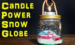 How to Make a Candle-Powered Snow Globe