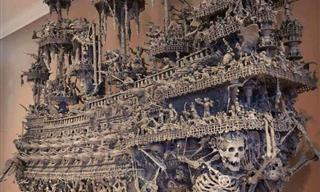 Otherworldly Pirate Ship Made Entirely of Found Objects