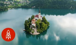 In the Slovenian Alps, an Island Sits in a Magical Lake
