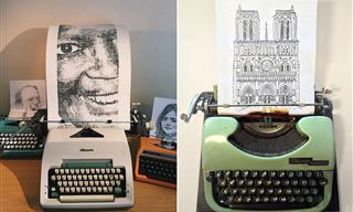 Striking Art Created Using a Typewriter